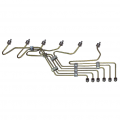 Injectors, Lift Pumps & Fuel Systems - Diesel Fuel Injection Lines - Cummins - Cummins OEM VP44 Stock Fuel Line Kit w/ Clamps | OEM233606 | 1995-2002 Dodge Cummins 5.9L