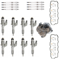 Injectors, Lift Pumps & Fuel Systems - Performance Packages - Freedom Injection - LB7 Duramax Injector Super Kit w/ Gasket Install Kit & Glow Plugs,Cups, Pump | 2001-2004 Chevy/GM LB7