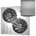 Freedom Filters - 6.0 Powerstroke Ultra Cool Three Row Electric Fans & Dual Row Aluminum Radiator | 2003-2007 Ford Powerstroke 6.0L